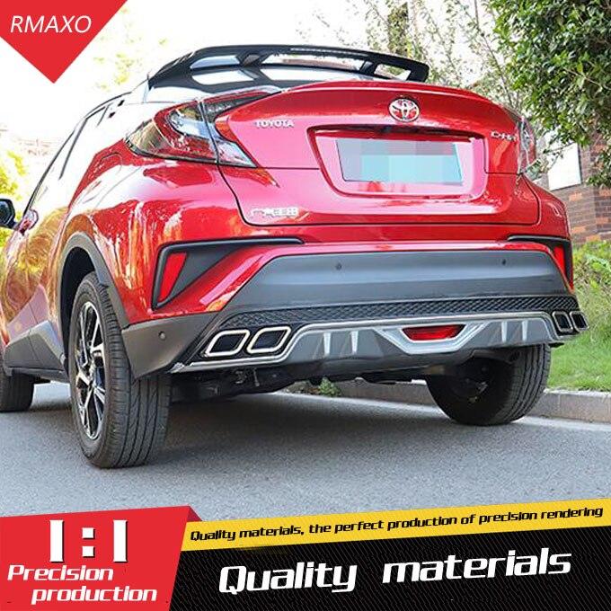 Para TOYOTA CHR kit de carrocería spoiler 2018-2020 CH-R 4CK ABS alerón trasero borde difusor de parachoques delantero Protector de parachoques