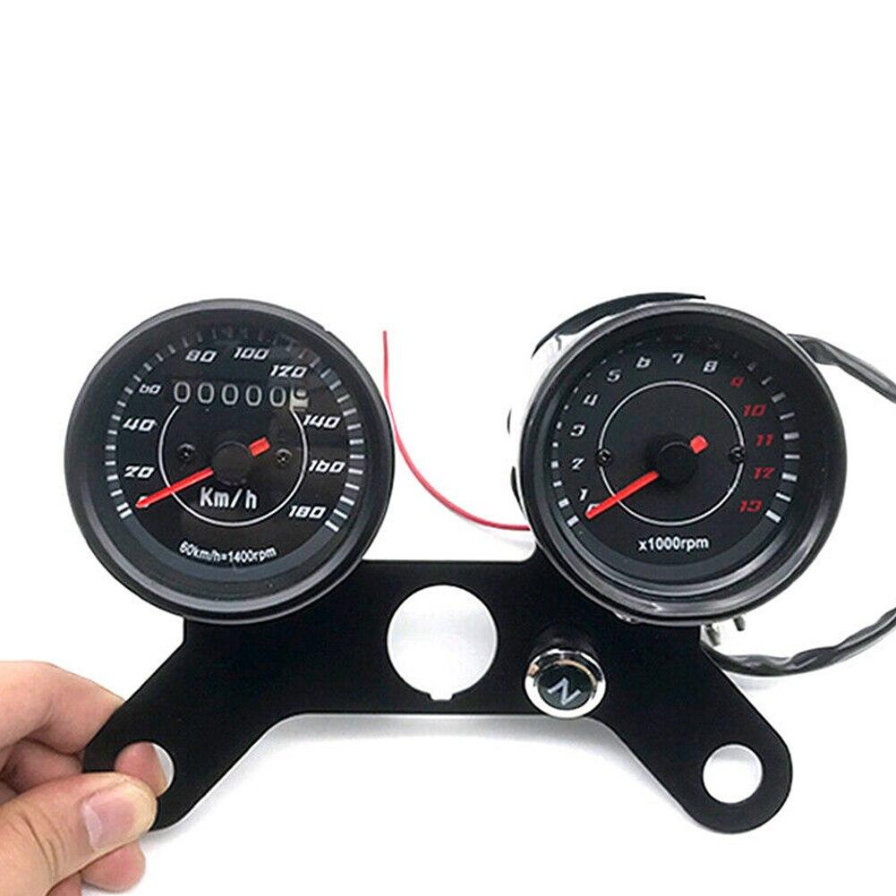 Черный 2 в 1 двойной держатель поддержки, прочные запасные части, калибровочный кронштейн спидометра, тахометр, кронштейн мотоцикла для счет...