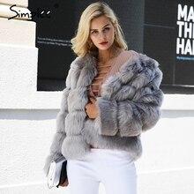 Simplee Vintage flauschigen faux pelzmantel frauen Kurze pelzigen gefälschte pelz winter oberbekleidung rosa mantel 2018 herbst casual partei mantel