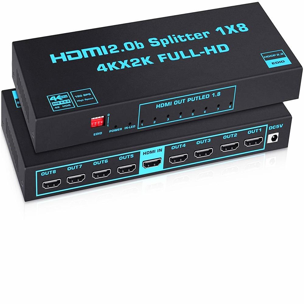Hdmi2.0 distributor switcher hdmi1 enters 8 out of HDMI splitter 4k60hz distributor