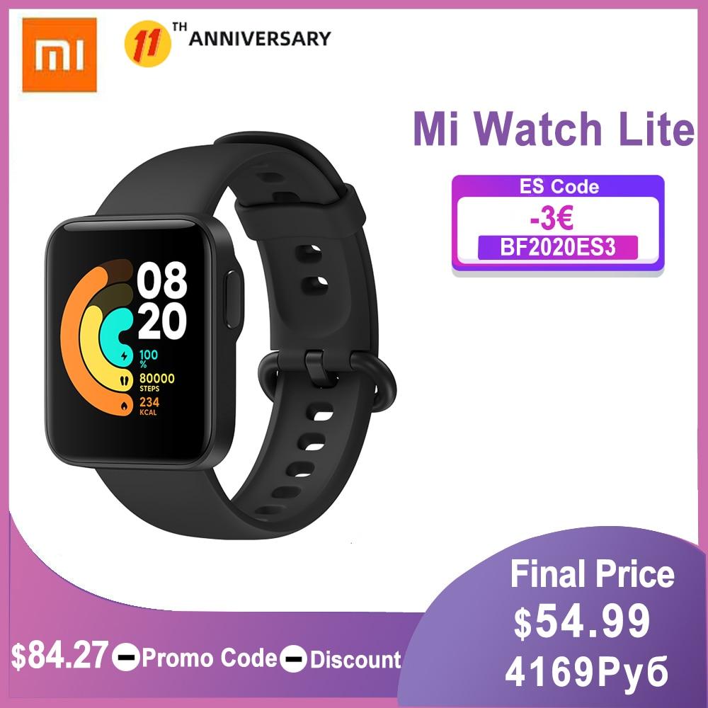 "Xiaomi Mi Watch Lite GPS Bluetooth 5.1 Smart Watch Fitness Heart Rate Monitor 1.4"" TFTLCD Screen 5 ATM Waterproof mi band"