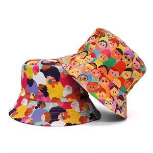 2021 Cotton four seasons Cartoon Print Bucket Hat Fisherman Hat Outdoor Travel Hat Sun Cap Hats for Men and Women 362