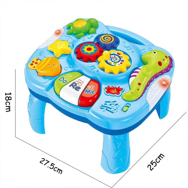 Multifunction Music Table Toys for Baby Toddler Learning Early Education Musical Machine Piano Activity Center Gift 6 months+