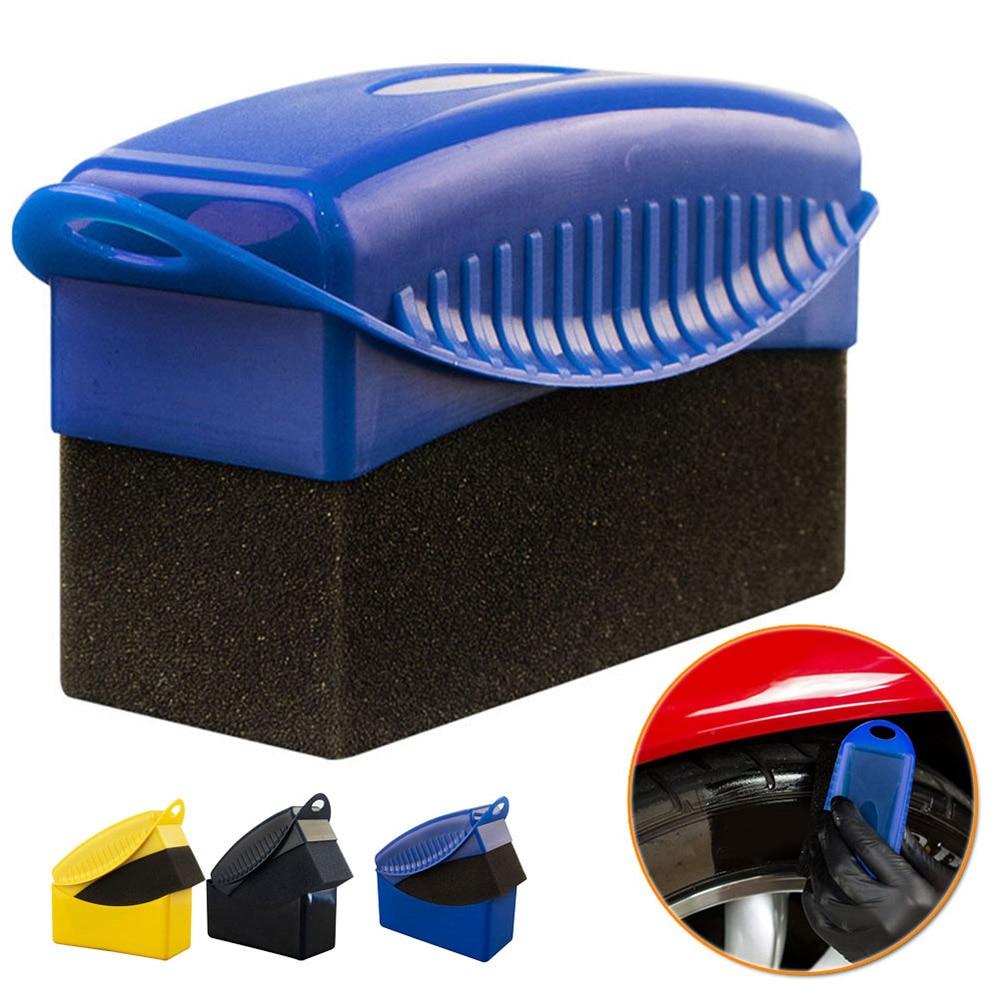 Щетка-губка для автомобильных колес из АБС-пластика, инструмент для чистки автомобильных колес, щетка-губка для полировки воском, аксессуар...