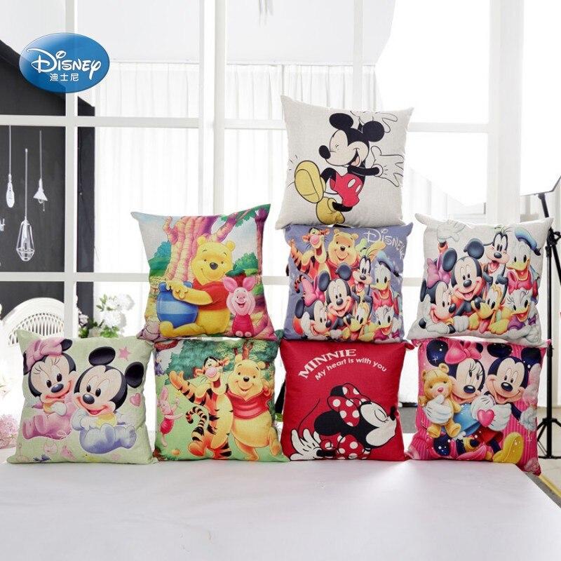 De dibujos animados de Disney Mickey Minnie Mouse decorativa/siesta fundas para almohada 1 Uds Pillowsham funda de cojín para niños 45x45cm
