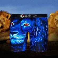 Ethika Summer New Product Hot Sale Mens Cartoon Print Boxer Shorts Fitness Boxer Long Boxer Briefs E