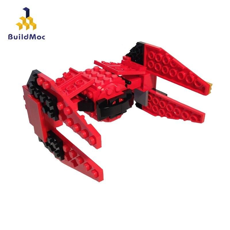 Buildmoc nindroid tie interceptor tie fighter primeira encomenda poe x asa lepining star wars 75218 75240 75149 construção tijolos brinquedos