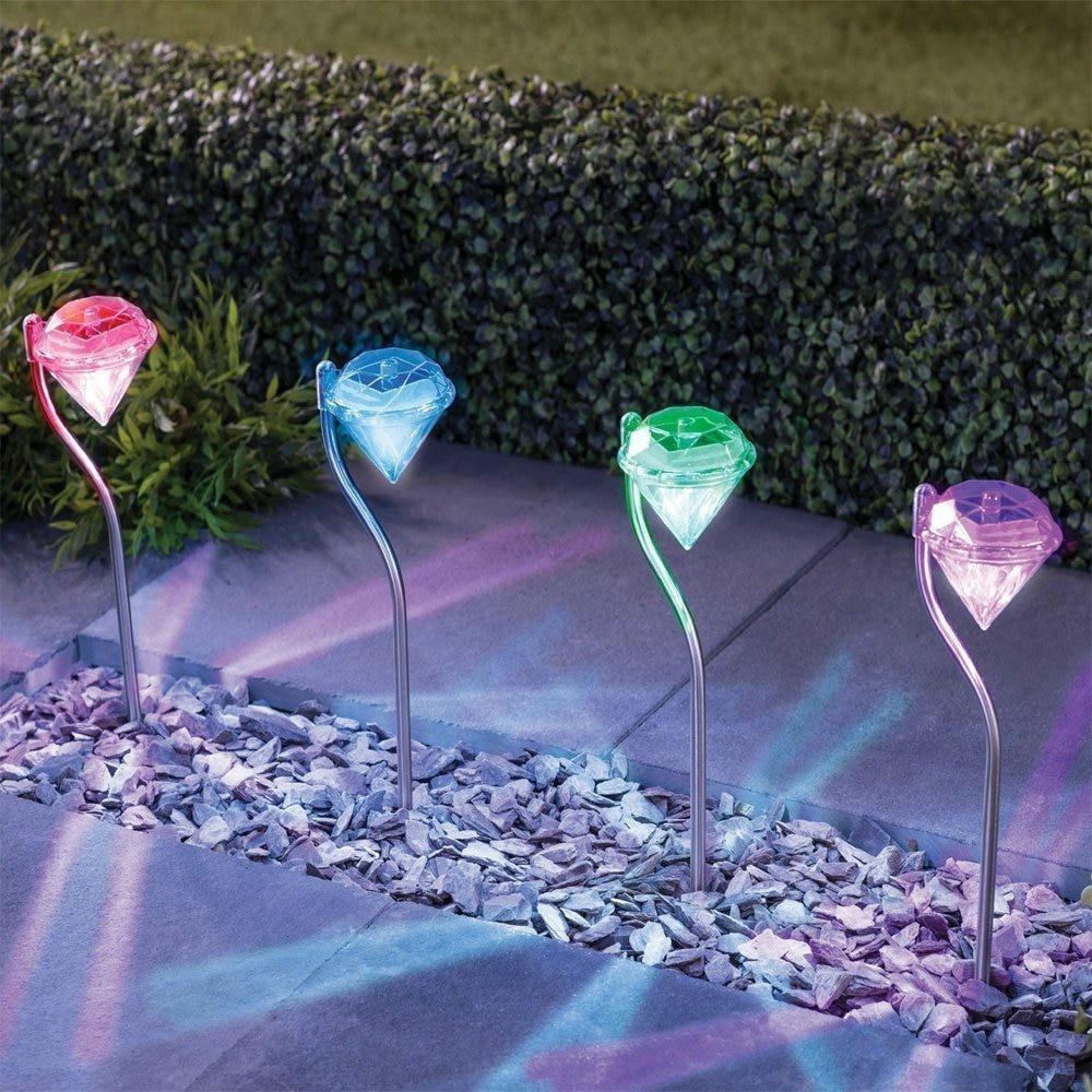 4 pacote de aco inoxidavel ao ar livre solar gramado lampada luz a prova dwaterproof