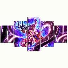 5 Stuk Dragon Ball Ultra Instinct Goku Cuadros Figuur Cartoon Anime Poster Pictures Canvas Schilderijen Wall Art Voor Home Decor