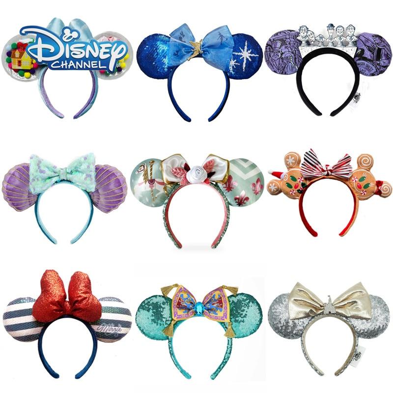 aliexpress.com - Disney Mermaid Princess Mickey Minnie Ears Headband Big Sequin Bow Ears Costume Headband Cosplay Plush Adult/Kids Headband Gift