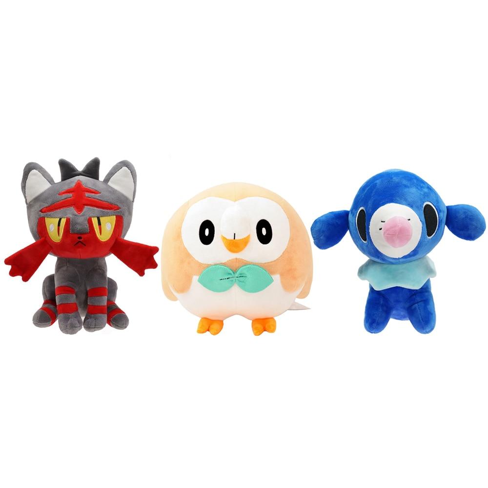 Rowlet Popplio Litten Pikachus Pokemons Stuffed Doll Plush Toys Kawaii Anime Christmas Gifts For Kid