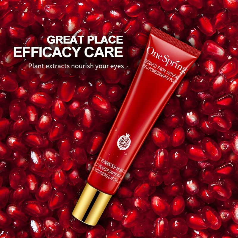 Red pomegranate fresh moisturizing eye cream brightens the eyes, moisturizes, moisturizes and compacts nicotinamide Eyes Care ultra vanities minaudieres necessaires and compacts