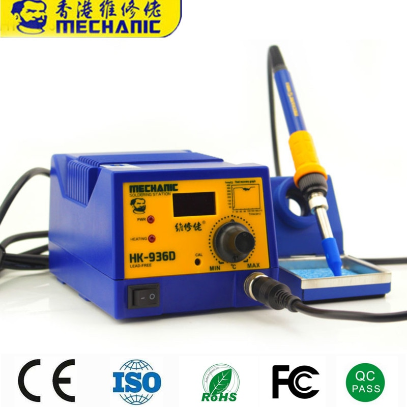 12 Sets Soldering Station Digital Hot Air Heat Gun BGA SMD Rework Temperature Adjustable Electric Soldering Iron Welding Tools