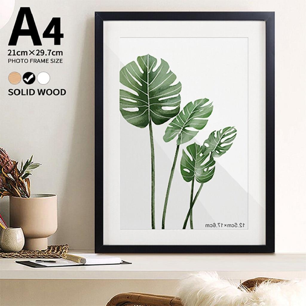 Marco de fotos de pared A4 10x15 de madera, pegatinas de pared, murales, marcos de fotos