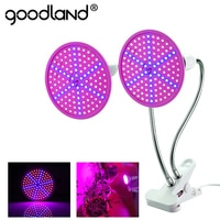 Фитолампа Goodland E27, светодиодсветильник лампа полного спектра с зажимом для выращивания растений, саженцев, цветов, комнатный короб, тент