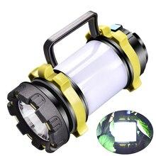WAKYME Portable LED Camping lanterne travail lumière extérieure tente lumière poche lampe de poche USB Port Rechargeable projecteur