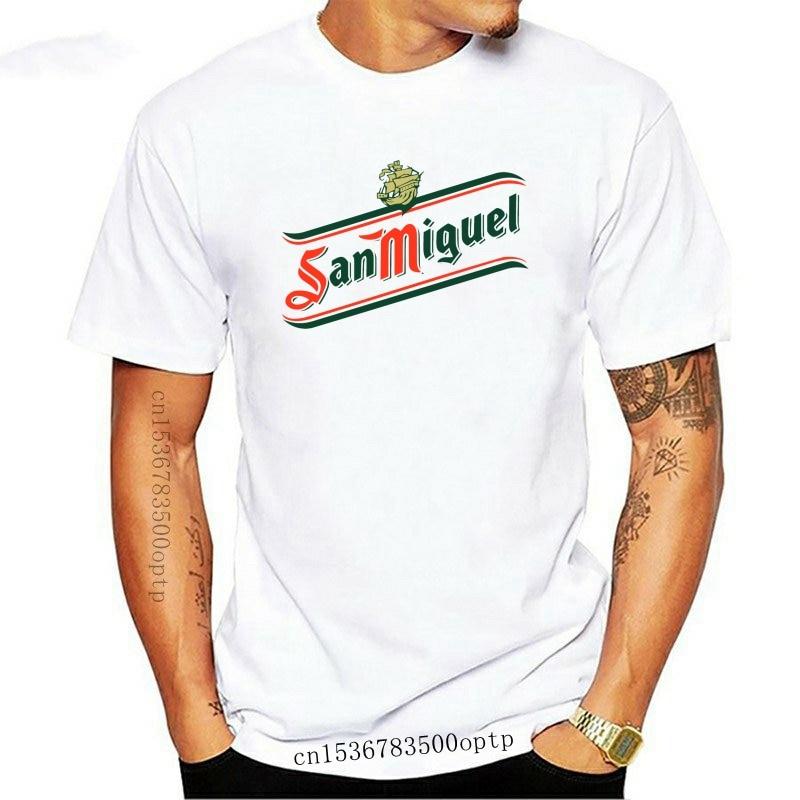Camiseta blanca y negra de SAN MIGUEL, camisa de cerveza, promoción, S,...