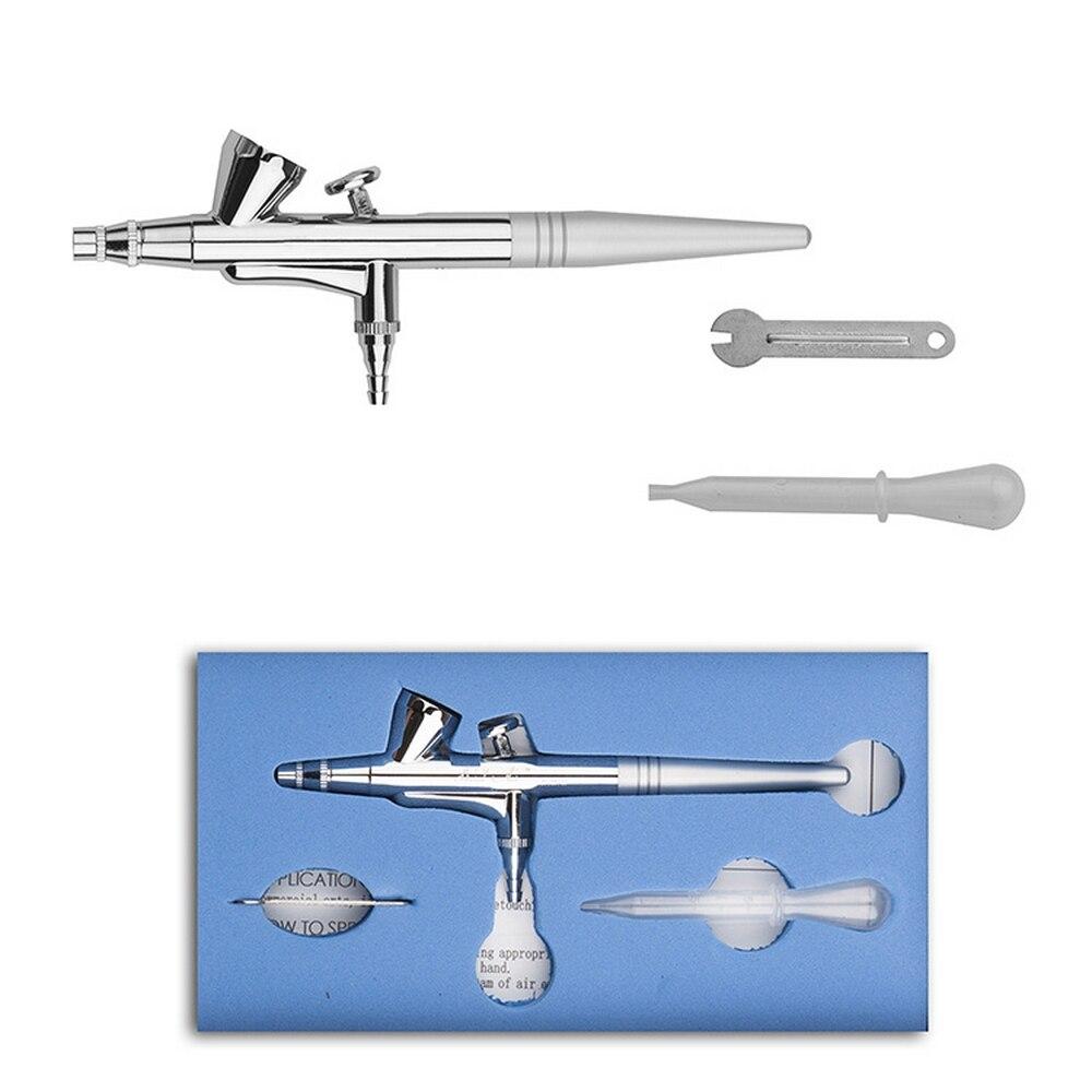 Kit de aerógrafo tamaño de la boquilla 0,4mm tirar doble 15-50psi acción interruptor imprimir arte del clavo tatuaje DIY modelo Spray Pen con boquilla llave