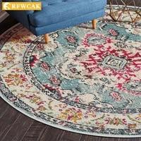 nordic national style circular carpet living room carpet bedroom bedside hanging basket floor mat homestay style tea table mat