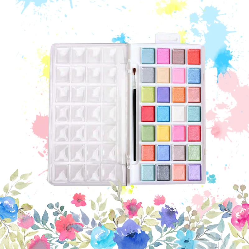paul rubens 12 24 48 watercolor paint set with metal case solid artist water color painting pigment for drawing art supplies Professional Solid Watercolor Paint Painting Aquarelle for School Drawing Student Artist Art Supplies Macaron Color Set