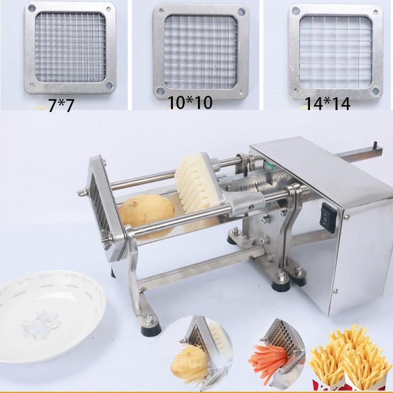 قطاعة بطاطس كهربائية احترافية من الفولاذ المقاوم للصدأ ، 3 شفرات ، قطاعة خضروات ، بصل ، جزر