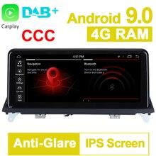 Système Android 10.25-9.0 pouces 8 Core ROM   32 go, système Android 2007, voiture GPS Navigation média, stéréo pour BMW X5 E70 X6 E71 2010-CCC système