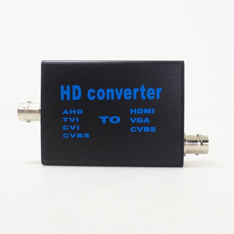 Video Converter 4in1 HD Video Signal TVI AHD CVI CVBS To HDMI VGA CVBS Convertor AHD To HDMI Signal AHD41 5v-20v Convertor enlarge