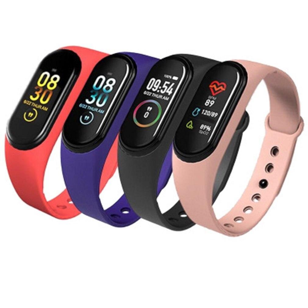 M4 Smart Watch Men Touch Screen Sports Pedometer Fitness Tracker Smartwatch Women Heart Rate Blood Pressure Pedometer SmartBand