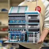 aquarium building blocks street view maritime museum bricks modle bricks oceanarium moc toys for kid birthday gifts home decor