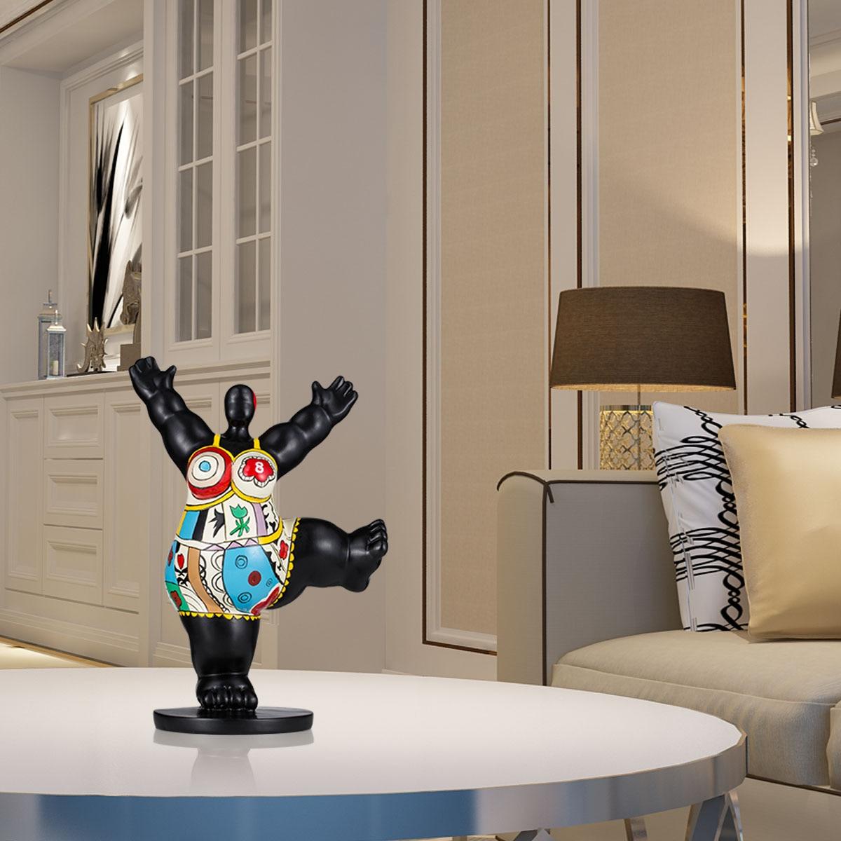 Escultura elegante de fibra de vidrio para mujer, escultura exagerada, adorno decorativo para oficina en casa