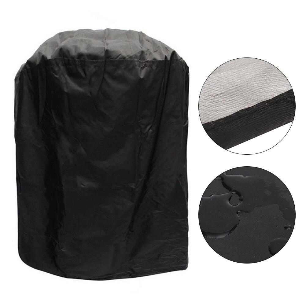 Tetera ahumadora impermeable ajustable, forma redonda, a prueba de polvo, cubierta protectora para parrilla de barbacoa, accesorios universales para Patio y jardín