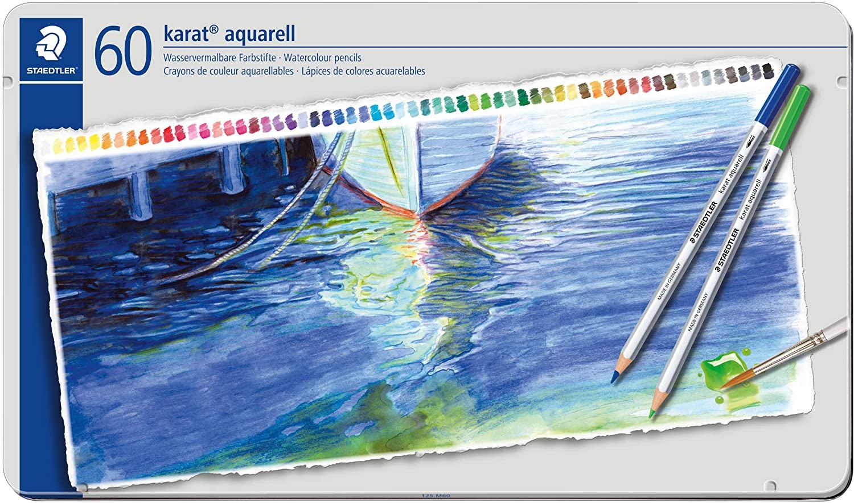 STAEDTLER-lápices De dibujo De acuarela Profesional, juego De lápices De Colores De agua, 60 Colores, 125 M