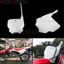 Белый пластиковый передний номерной знак для Honda CRF150F CRF230F CRF 150 230 CRF 150/230 F 2003-2019 Байк мотокросс эндуро