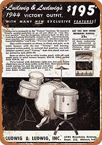 Señal de Metal, Ludwig Drums, letrero de estaño decorativo Vintage