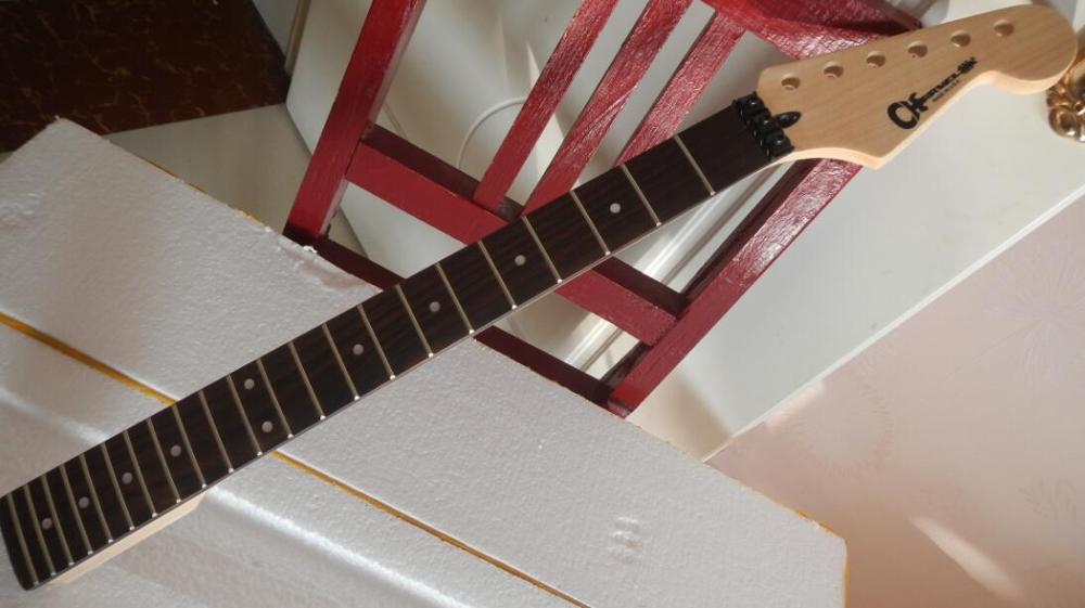 Новое поступление высокое качество палисандр клавиатура гитара Charvel шеи, Кленовая Шея 22 лада шеи