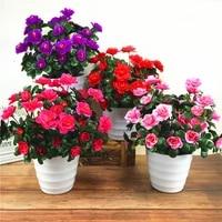 7 branchbouquet artificial red azalea flowers bushes wedding home garden fake flowers decoration