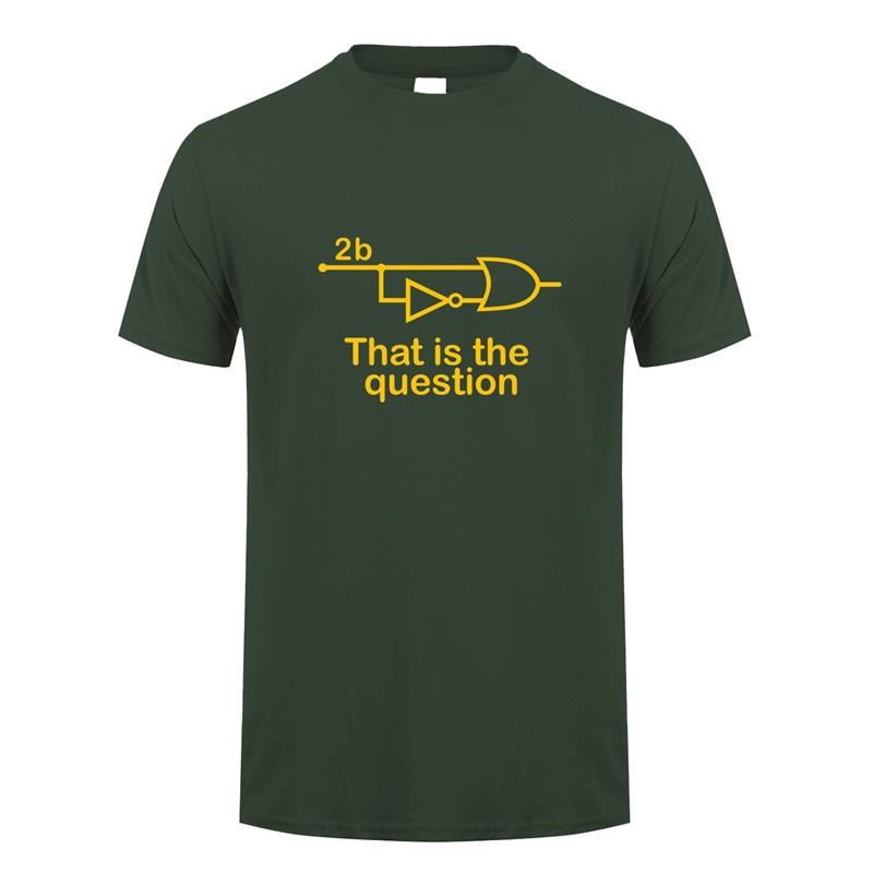 Nuevo diseño divertido para ser o no ser ingeniero eléctrico Camiseta Hombre algodón manga corta Camisetas cuello redondo hombre Camiseta