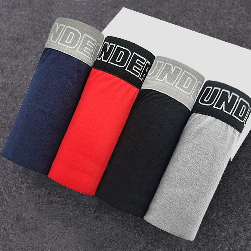 4pcs Male Panties Cotton Men's Underwear Boxers Breathable Man Boxer Solid Underpants Comfortable Brand Shorts men underwear 365