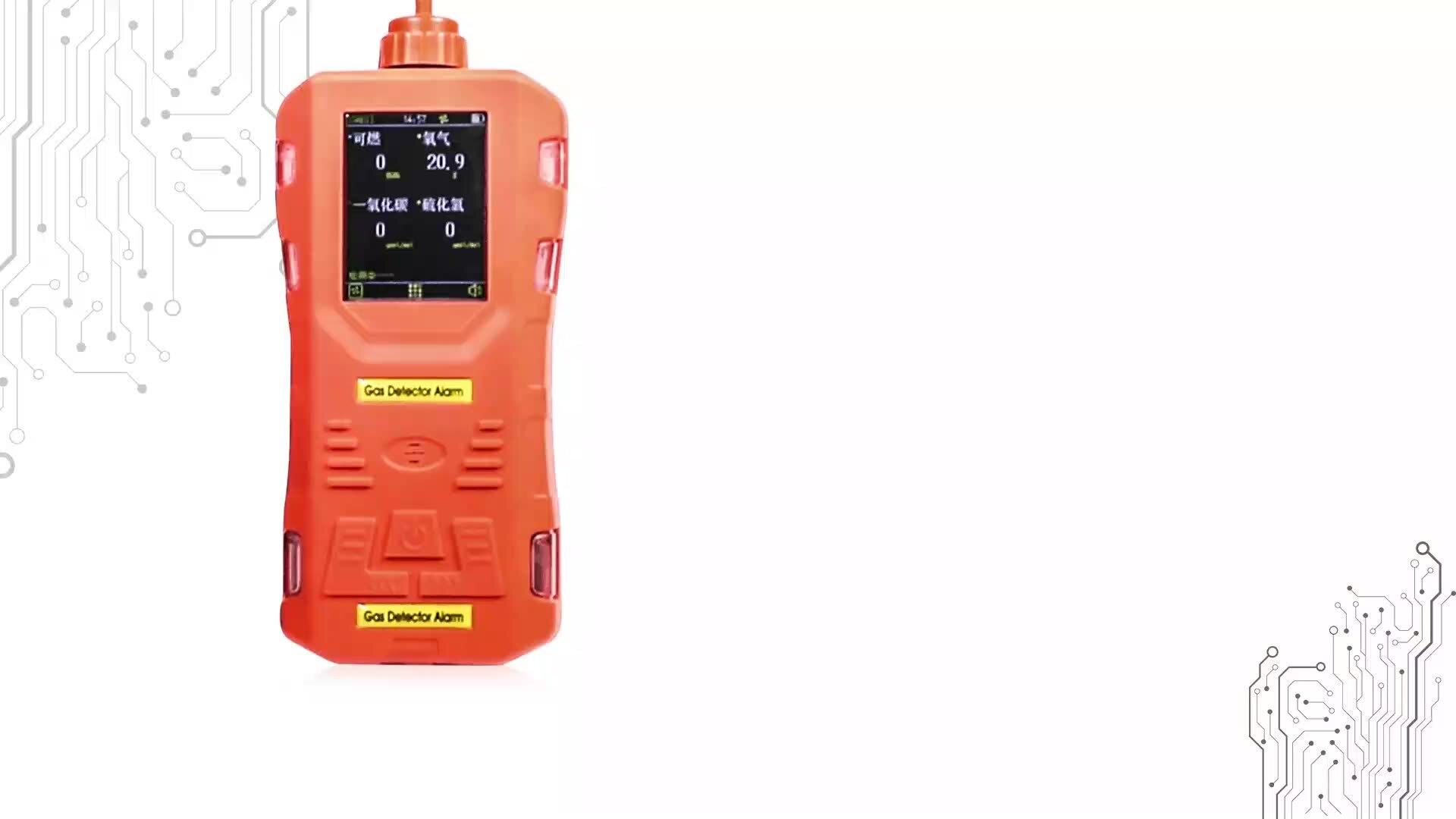 Портативный детектор газа, мультианализатор co, оксид углерода