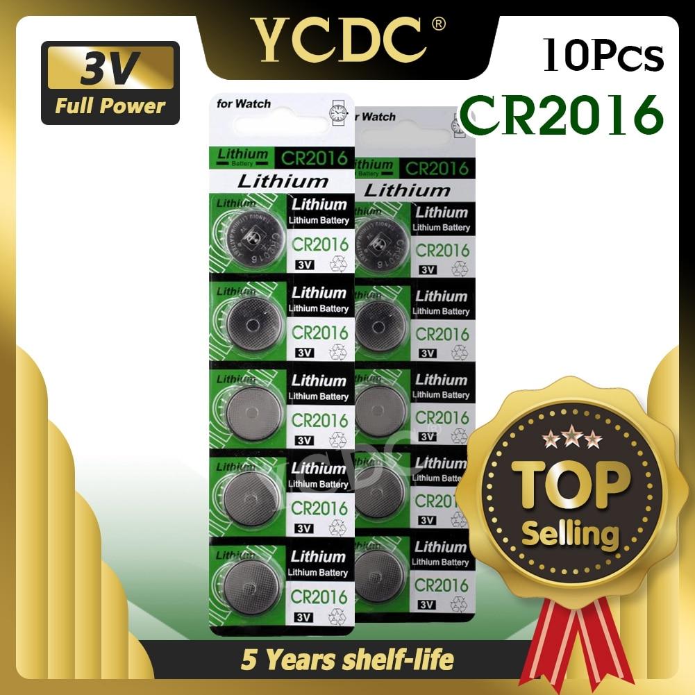 10 sztuk CR2016 Bateria litowa 3v zegarek Bateria wymienić BR2016 DL2016 LM2016 KCR2016 ECR2016 Bateria guzikowa litowa komórki na zegarek