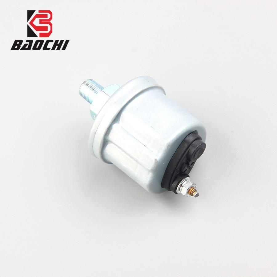 Sensor de presión de aceite de motor de un solo polo automático 0-10 Bar 1/8 NPT, emisor de aceite de coche, generador diésel para camión, barco, tren VDO