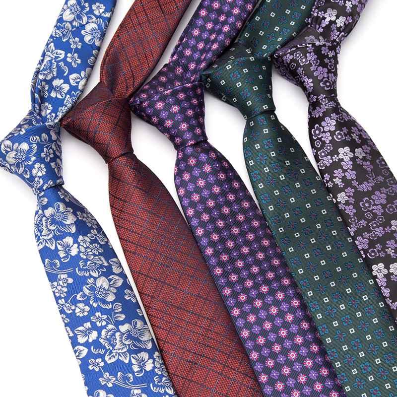 Мужские галстуки, модные жаккардовые роскошные галстуки, галстуки в клетку в полоску с цветами, галстуки для мужчин, подарок, свадебные аксе...