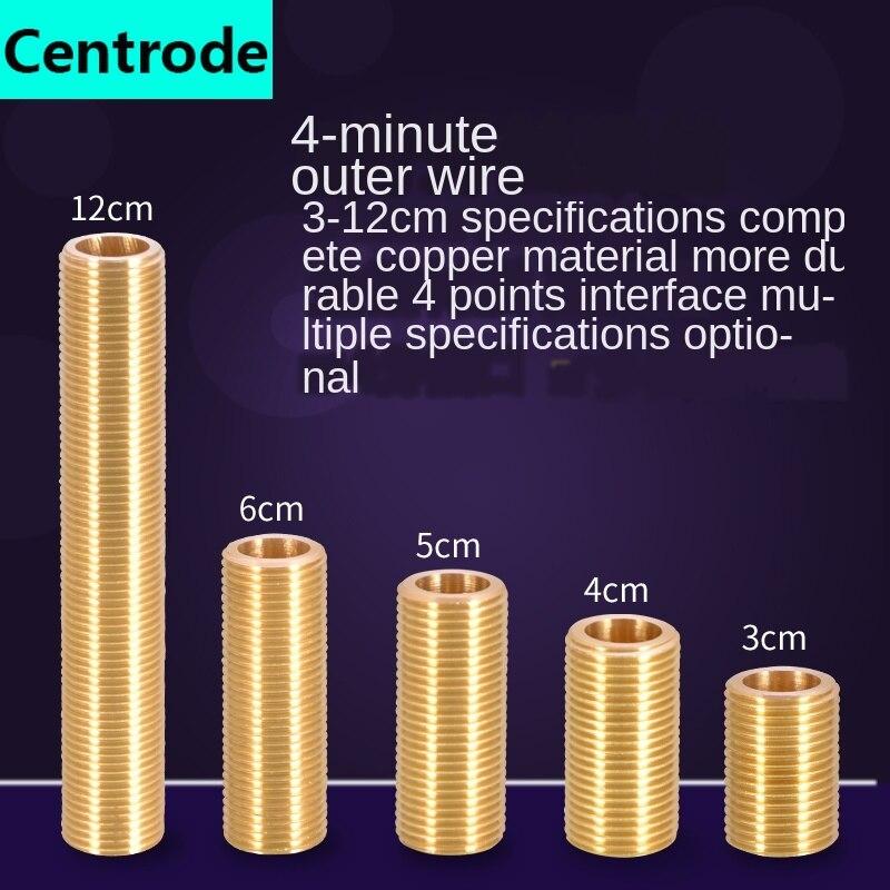 Tubos de 1/2 pulgadas, Unión de tubo de alambre pasante, cable doble de cobre exterior 3/4/5/6 /12cm, tubo de extensión de cable exterior