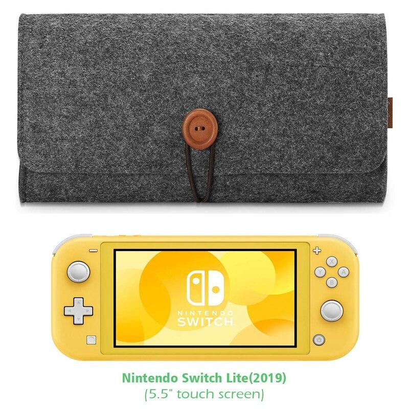 NS Switch Lite bolsa de transporte portátil de Viaje Funda de fieltro protectora profesional Ultra delgada para Nintendo Switch Lite 2019