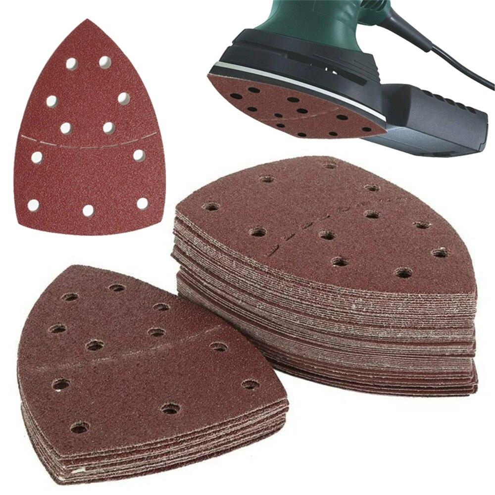 Folhas orbitais tipo 40-1500, lixadeira de lixa para mouse, detalhe lixa de palma, disco de lixa, abrasivo, papel de lixa, 10 peças casa ferramentas