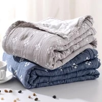 cotton gauze towel quilt siesta blanket single double summer cool air conditioning cotton spring and