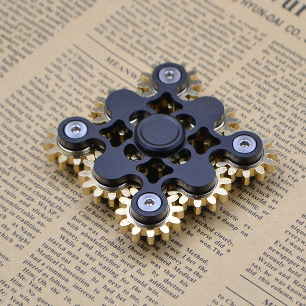Christmas nine-tooth linkage/9-red linkage Fingertip gyro EDC hand spinner Hand Spinner Fidget Fun Fingertip Finger Stress Relie enlarge