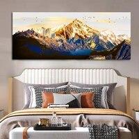 Wangart     peinture a lhuile de paysage de montagne grand oiseau dore  affiche imprimee pour la maison  salon