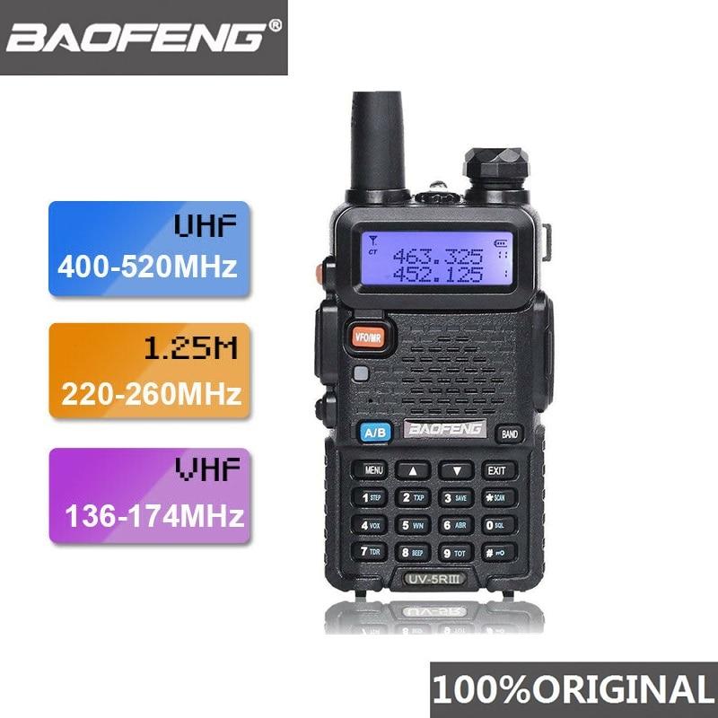 2019 Baofeng UV-5R III Tri-Band Dual Antenna Walkie Talkie VHF 136-174Mhz/220-260Mhz&UHF 400-520Mhz Ham Radio Scanner UV5R UV 5R
