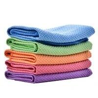 20pcs microfiber cleaning handdoek absorbeerbare glas keuken schoonmaakdoekje doekjes tafel venster auto gerecht handdoek rag